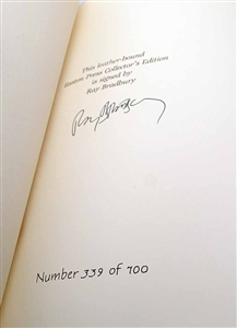 Example of Signed Limited Edition Copy