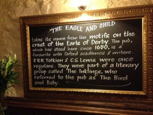 The Inklings' Plaque at the Eagle and Child
