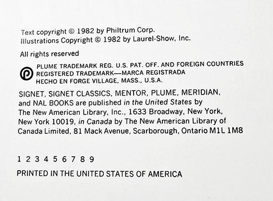 "The BCE of Creepshow will have the full number line on the copyright page but lack ""First Edition"" as found on the first printing."
